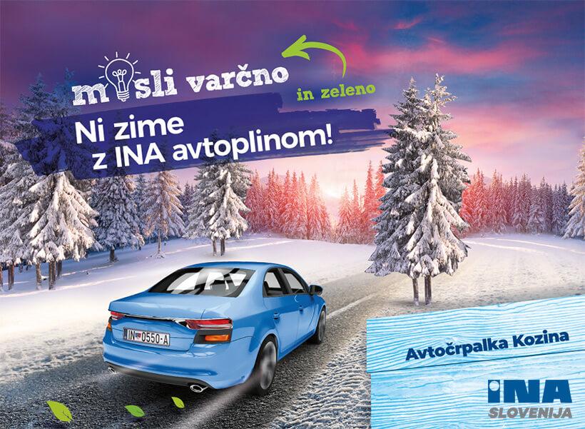 avtoplin avtočrpalka Kozina INA Slovenija